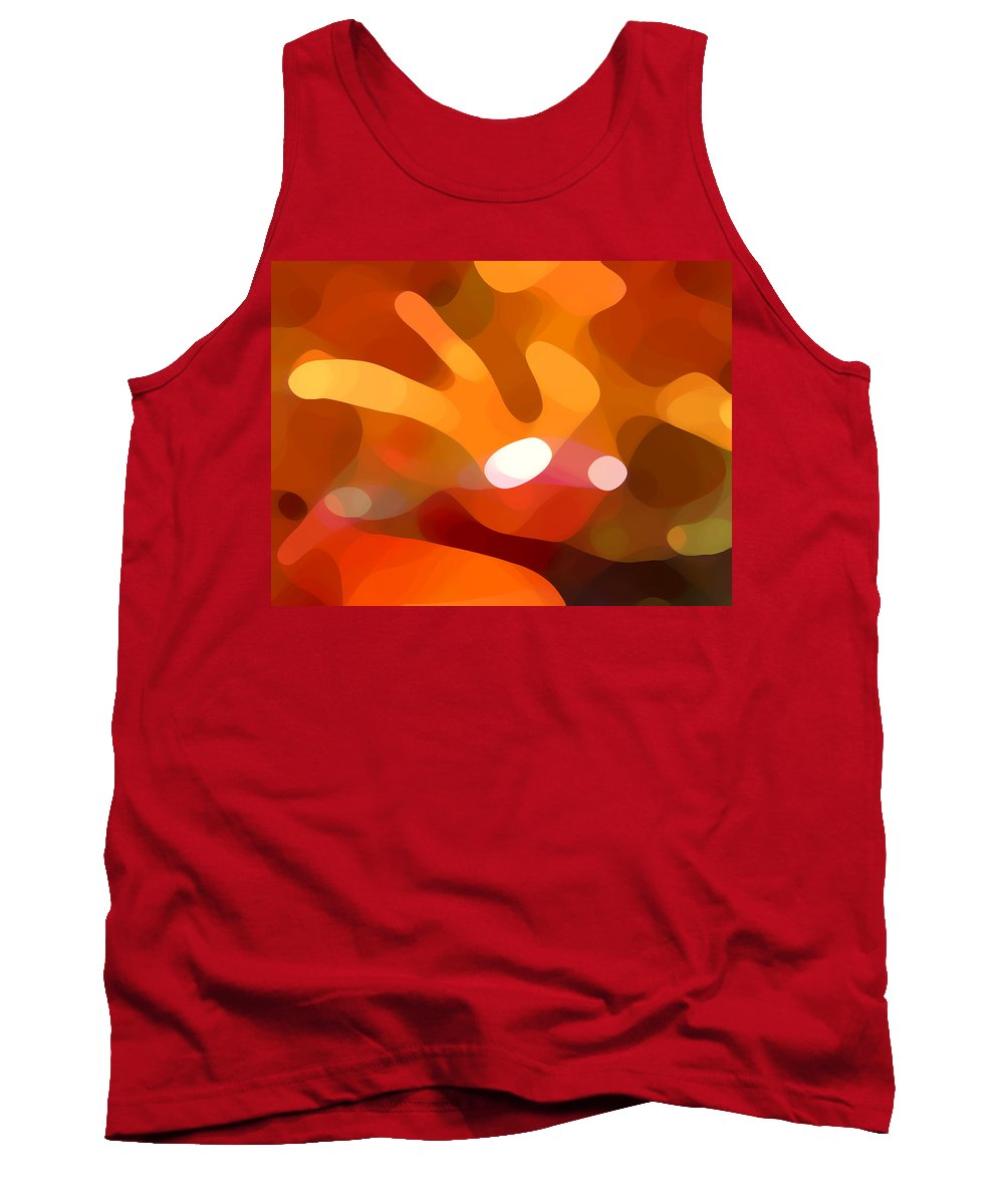 Abstract Tank Top featuring the painting Fall Day by Amy Vangsgard