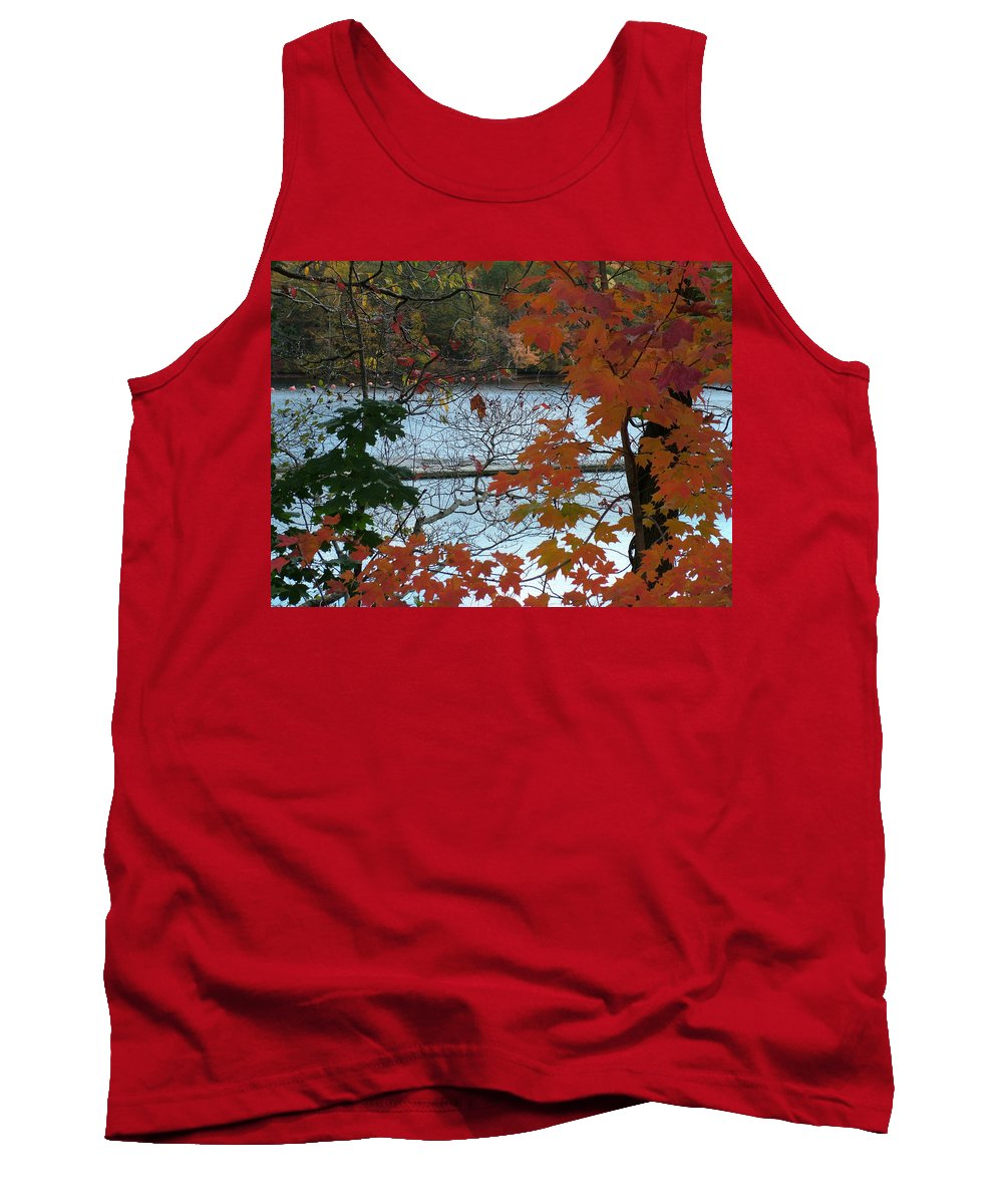 Fall Tank Top featuring the photograph Fall On The Shetucket by Geoffrey McLean