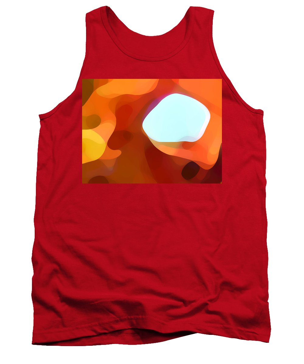 Abstract Tank Top featuring the painting Fall Passage by Amy Vangsgard