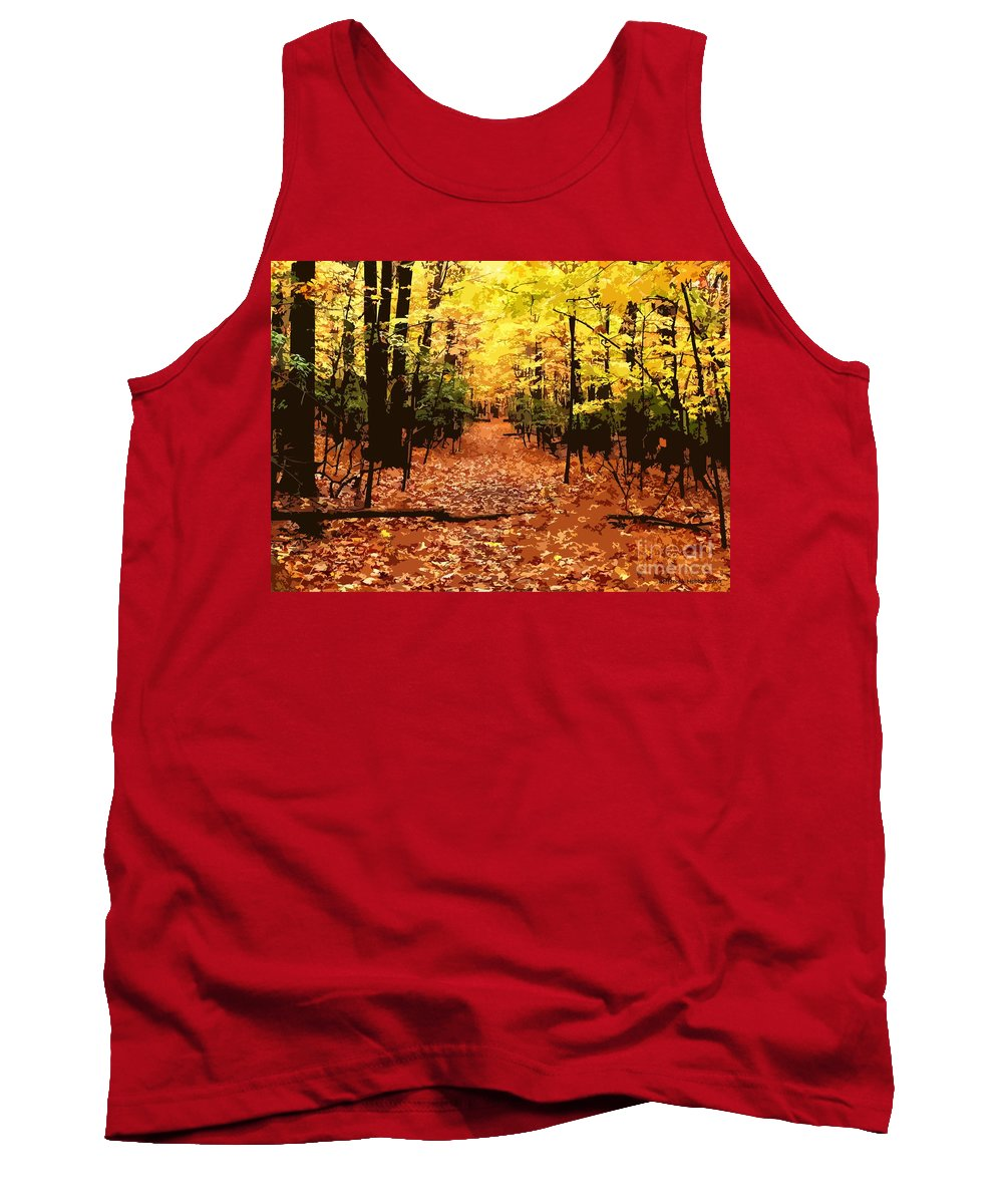 Fall Tank Top featuring the photograph Fall Path by Jefferson Hobbs