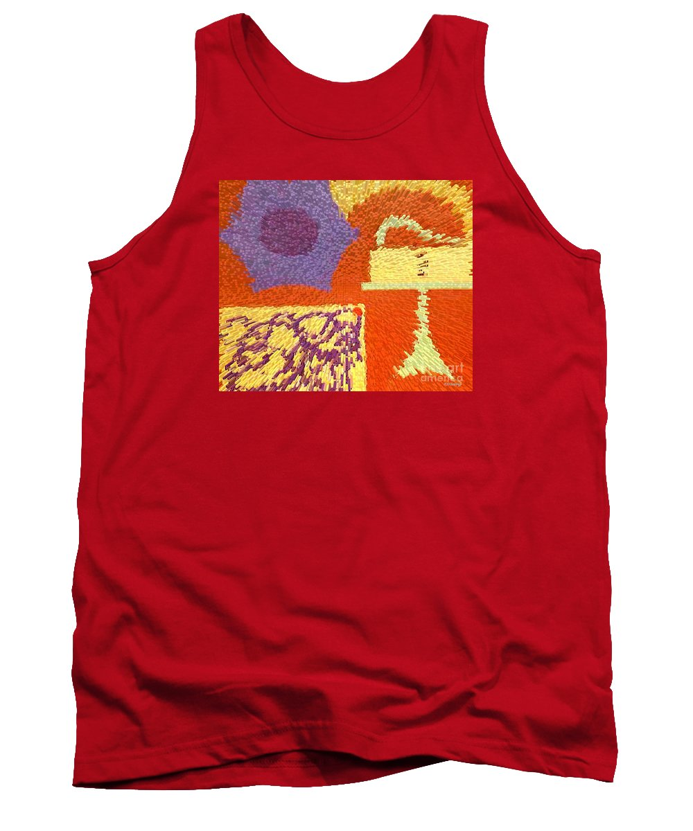 Jazz Tank Top featuring the painting Feeling Jazzy by Patrick J Murphy