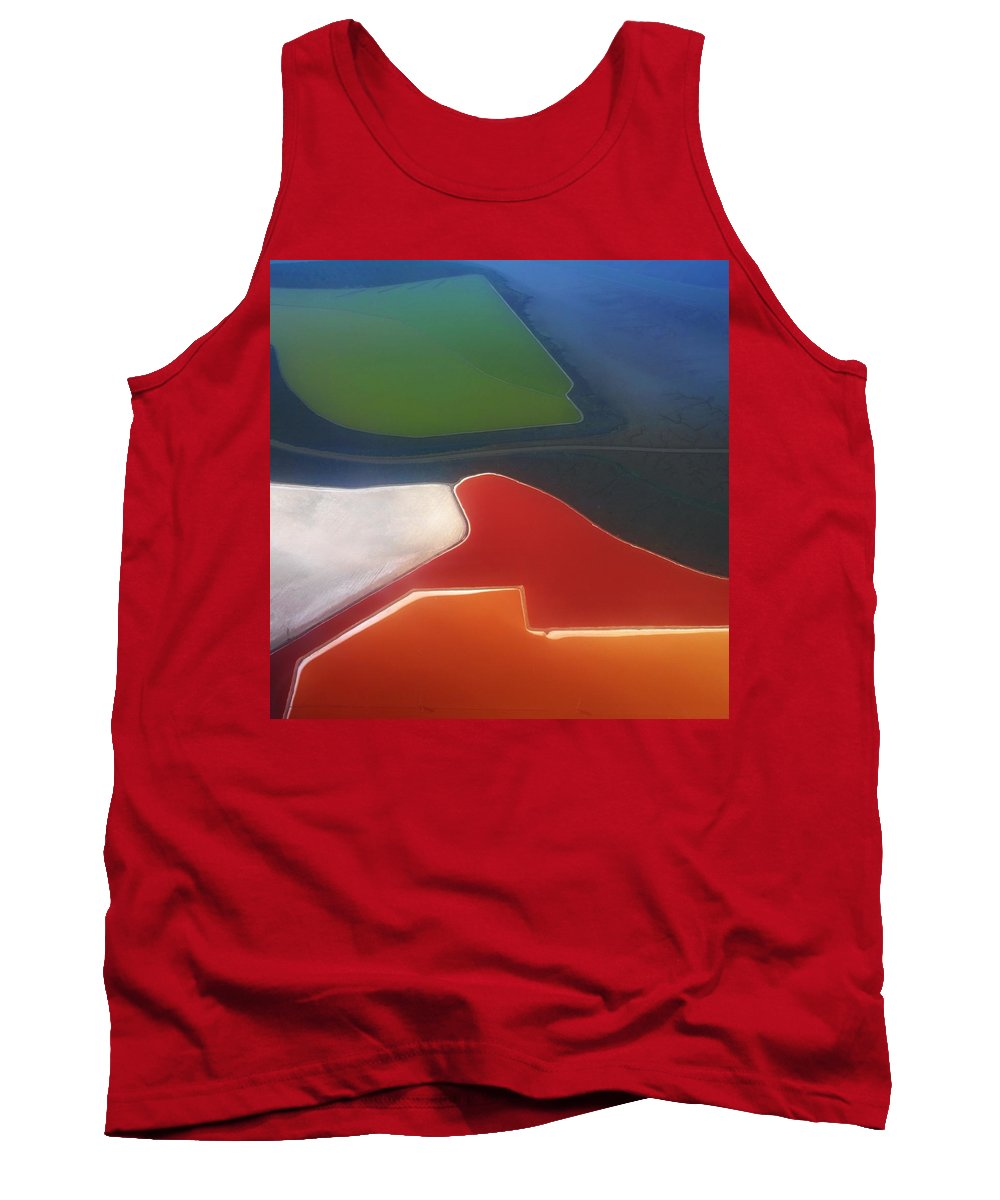Abstraction Tank Top featuring the photograph Fields by Alexander Fedin