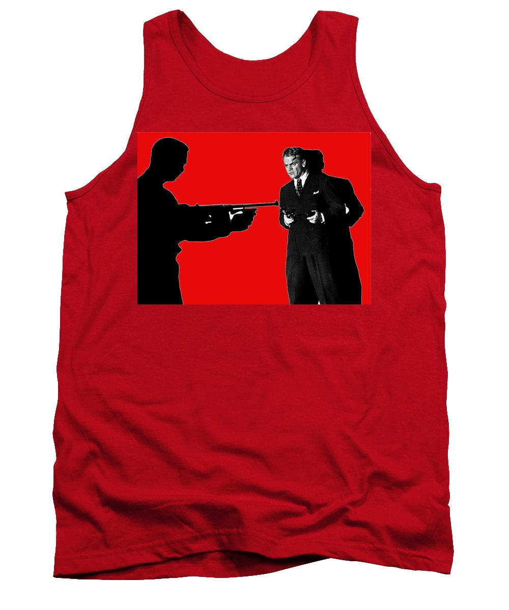 Film Homage James Cagney Angels With Dirty Faces 1939 Tank Top featuring the photograph Film Homage James Cagney Angels With Dirty Faces 1939-2014 by David Lee Guss