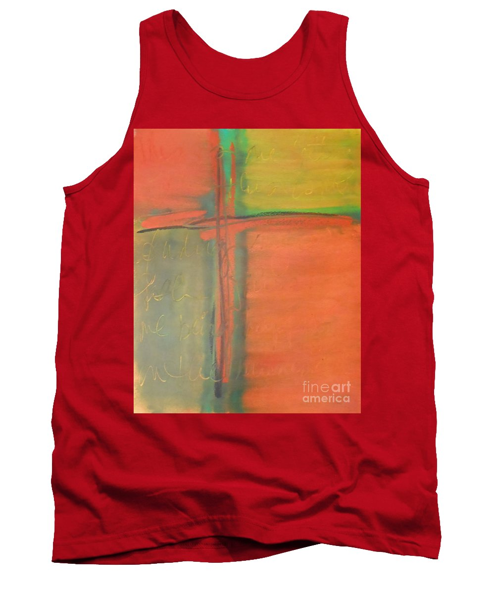 Path Tank Top featuring the painting Finding My Path by Kitty Mecham