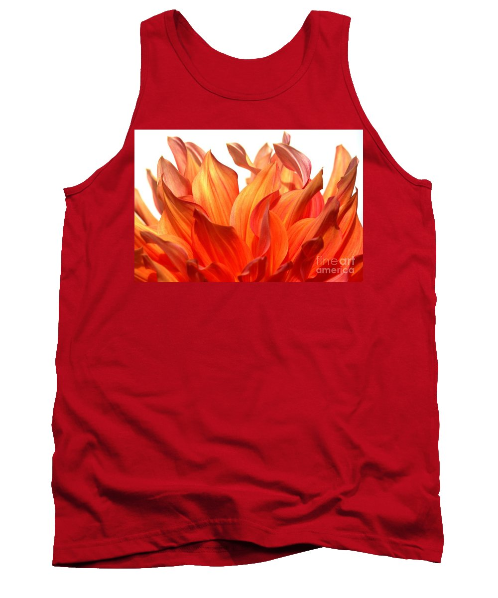 Dahlia Tank Top featuring the photograph Fire by Brothers Beerens