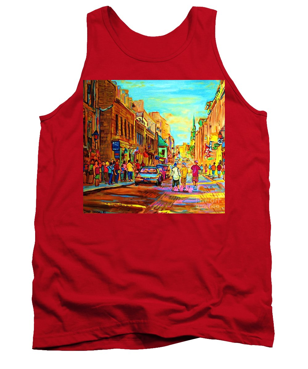 Montreal Tank Top featuring the painting Follow The Yellow Brick Road by Carole Spandau
