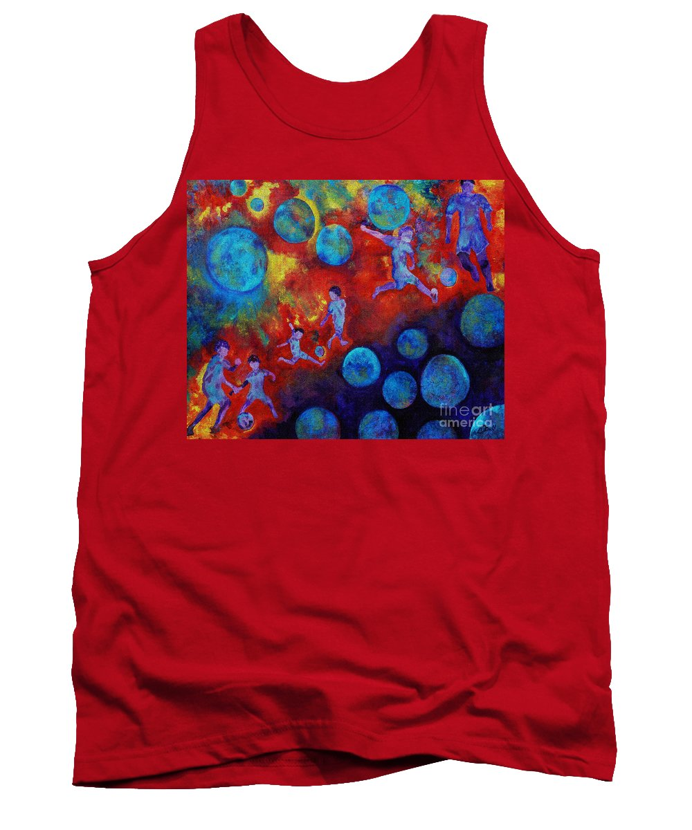 Soccer Tank Top featuring the digital art Football Dreams by Claire Bull