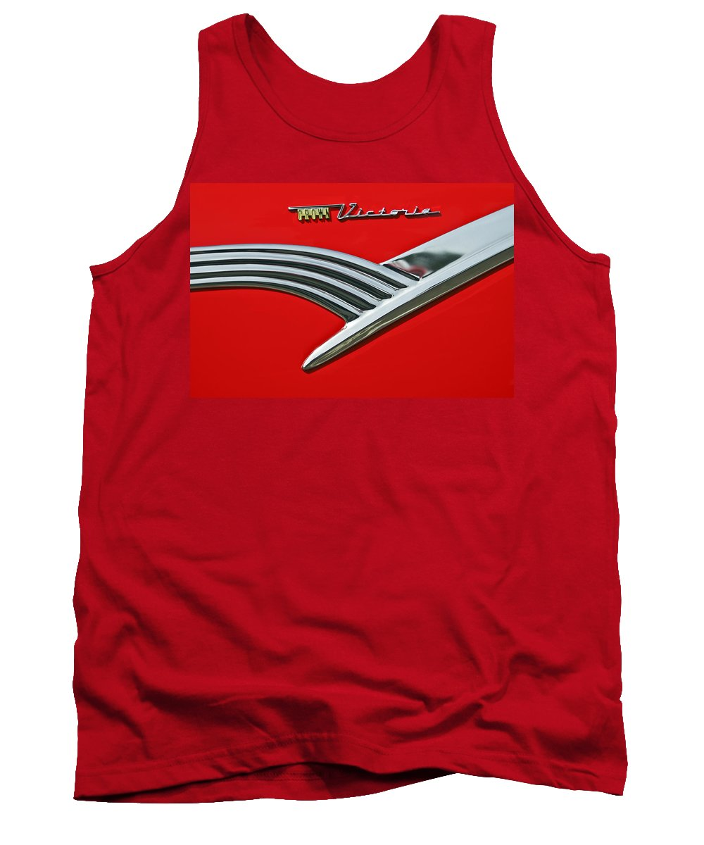 Car Tank Top featuring the photograph Ford Crown Victoria Emblem by Jill Reger