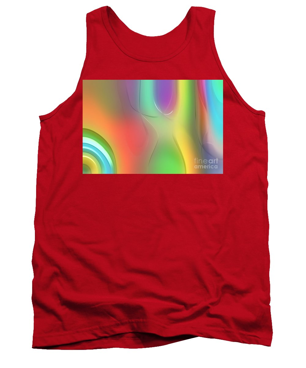 Forms Tank Top featuring the digital art Formes Lascives - 212 by Variance Collections