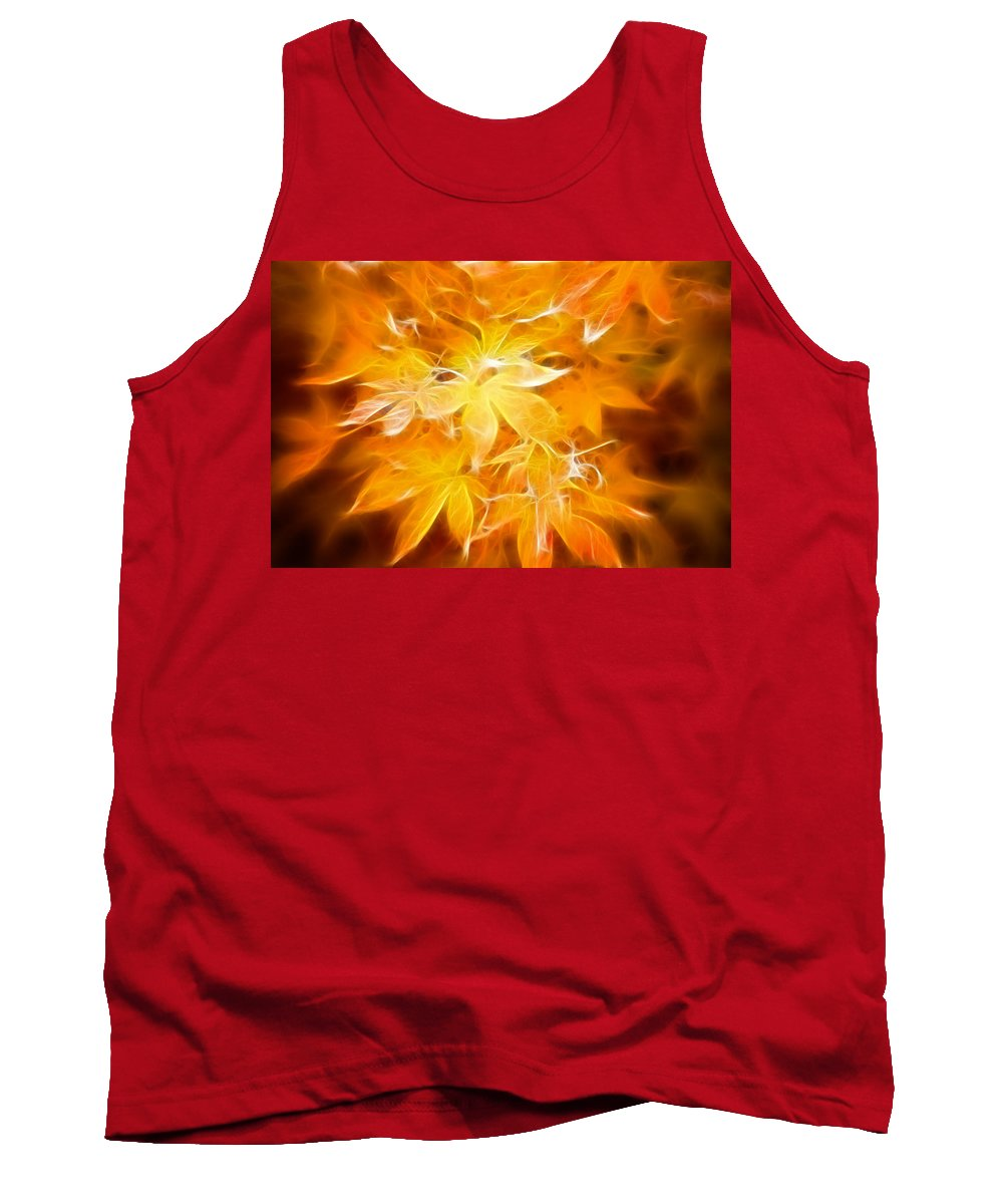 Color Tank Top featuring the photograph Fractal Gold 6664 by Timothy Bischoff
