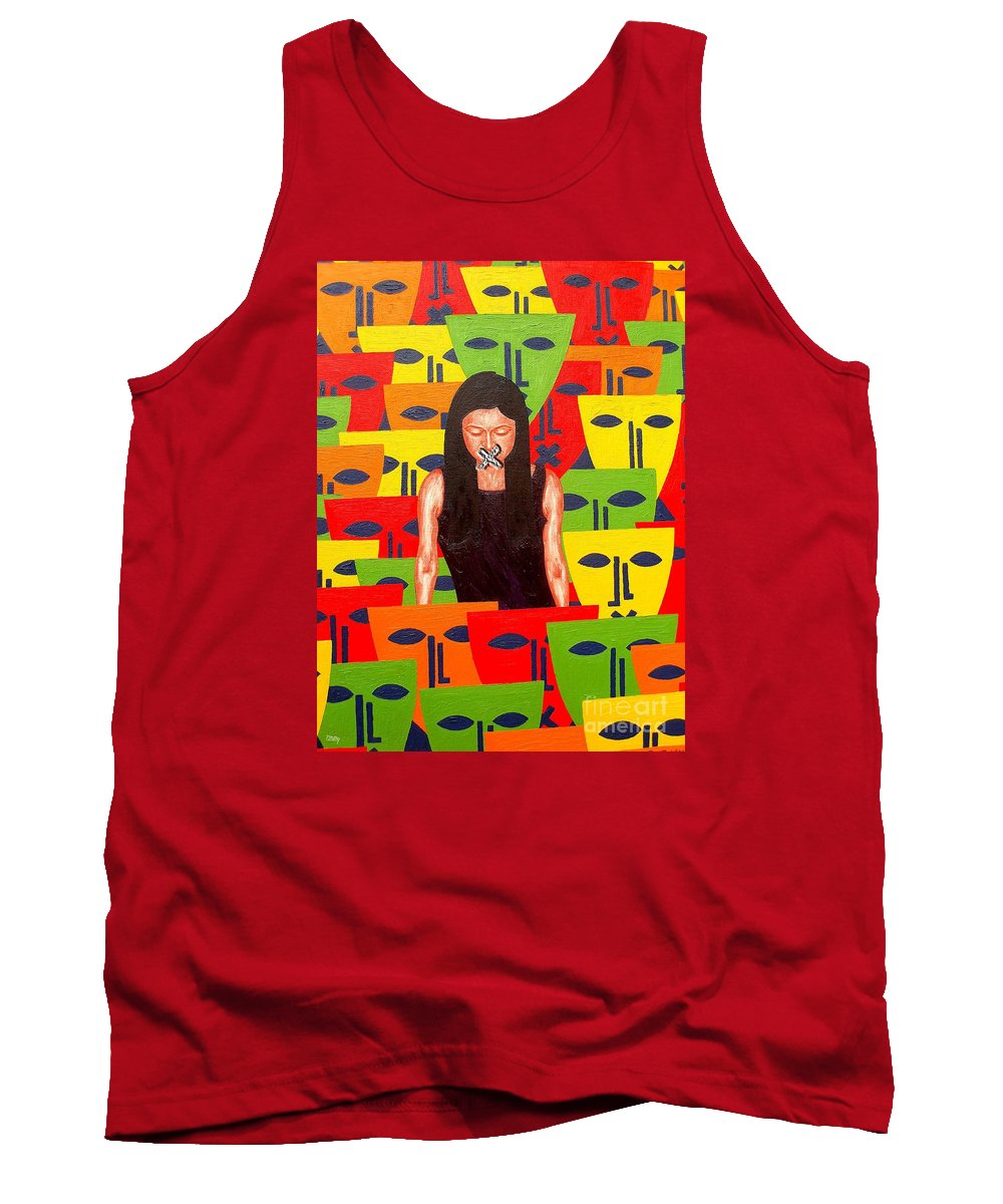 Speech Tank Top featuring the painting Free Speech by Patrick J Murphy