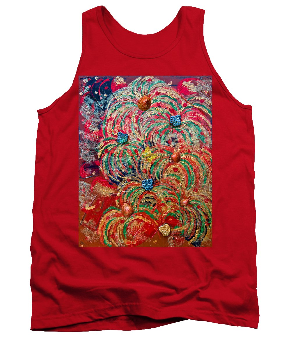 Abstract Tank Top featuring the painting From The Irish Sea 5 by Alex Art and Photo