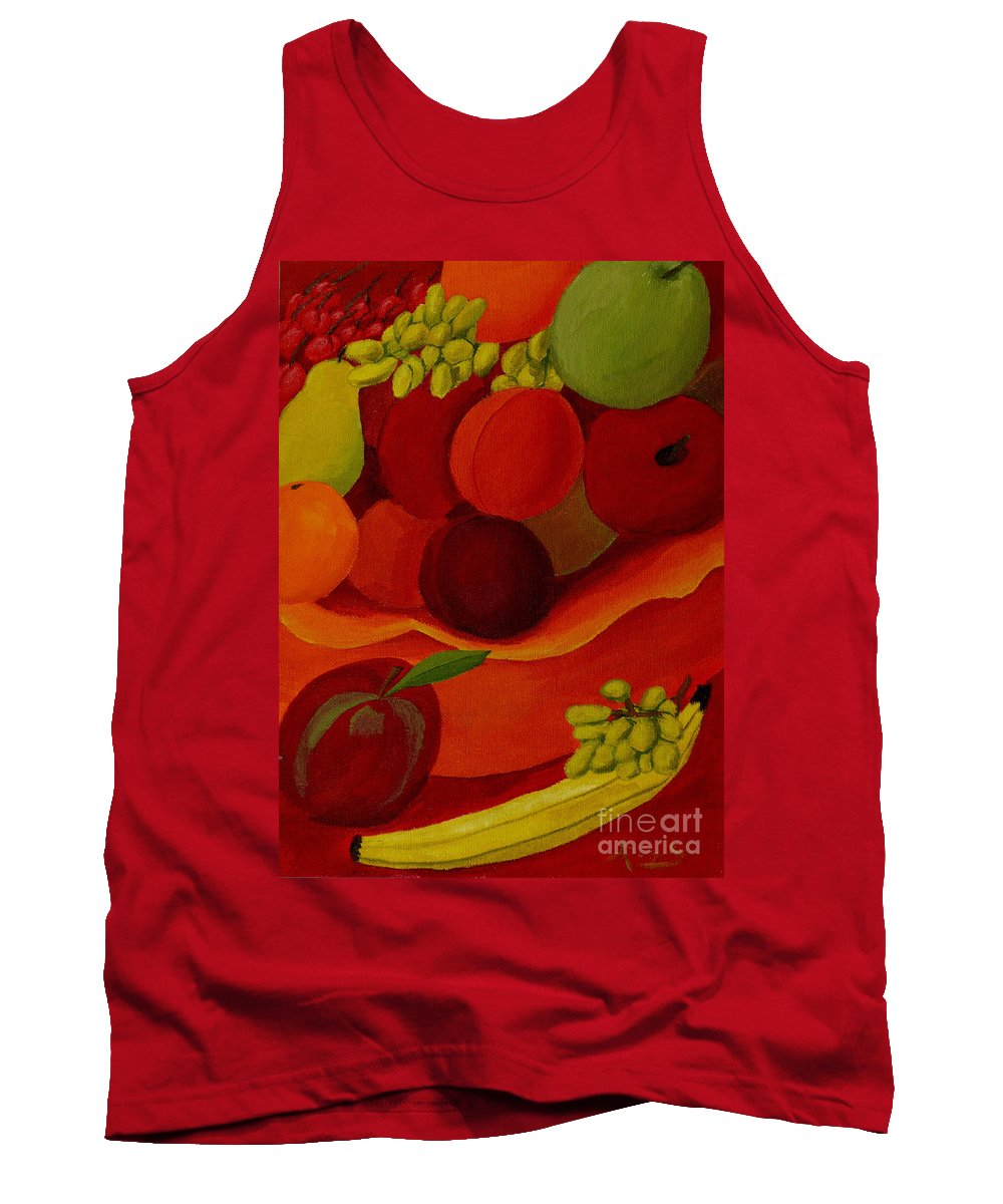 Fruit Tank Top featuring the painting Fruit-still Life by Anthony Dunphy