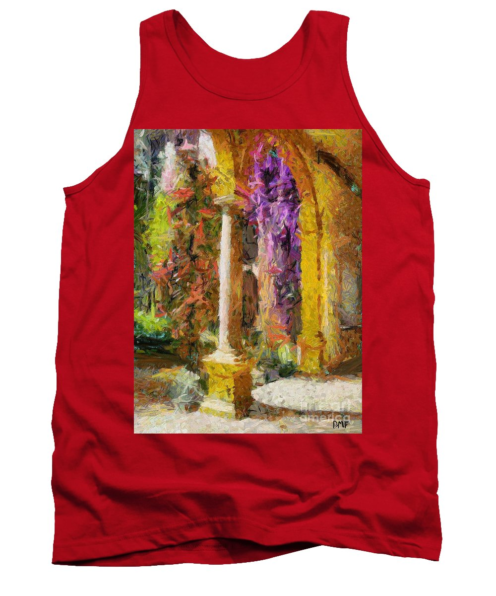 Landscapes Tank Top featuring the painting Garden Of Eden by Dragica Micki Fortuna