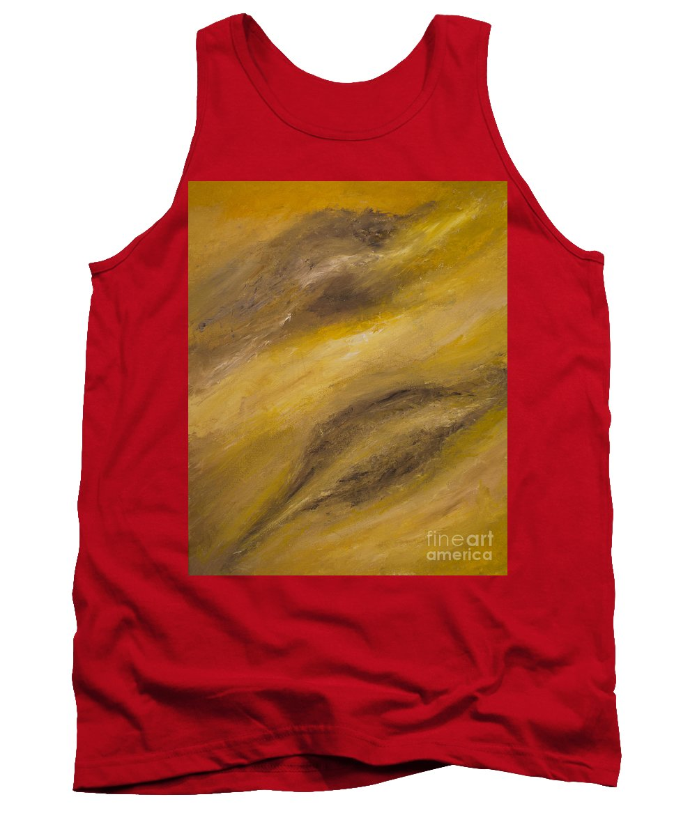 Abstract Tank Top featuring the painting Gemini by Goran Nilsson