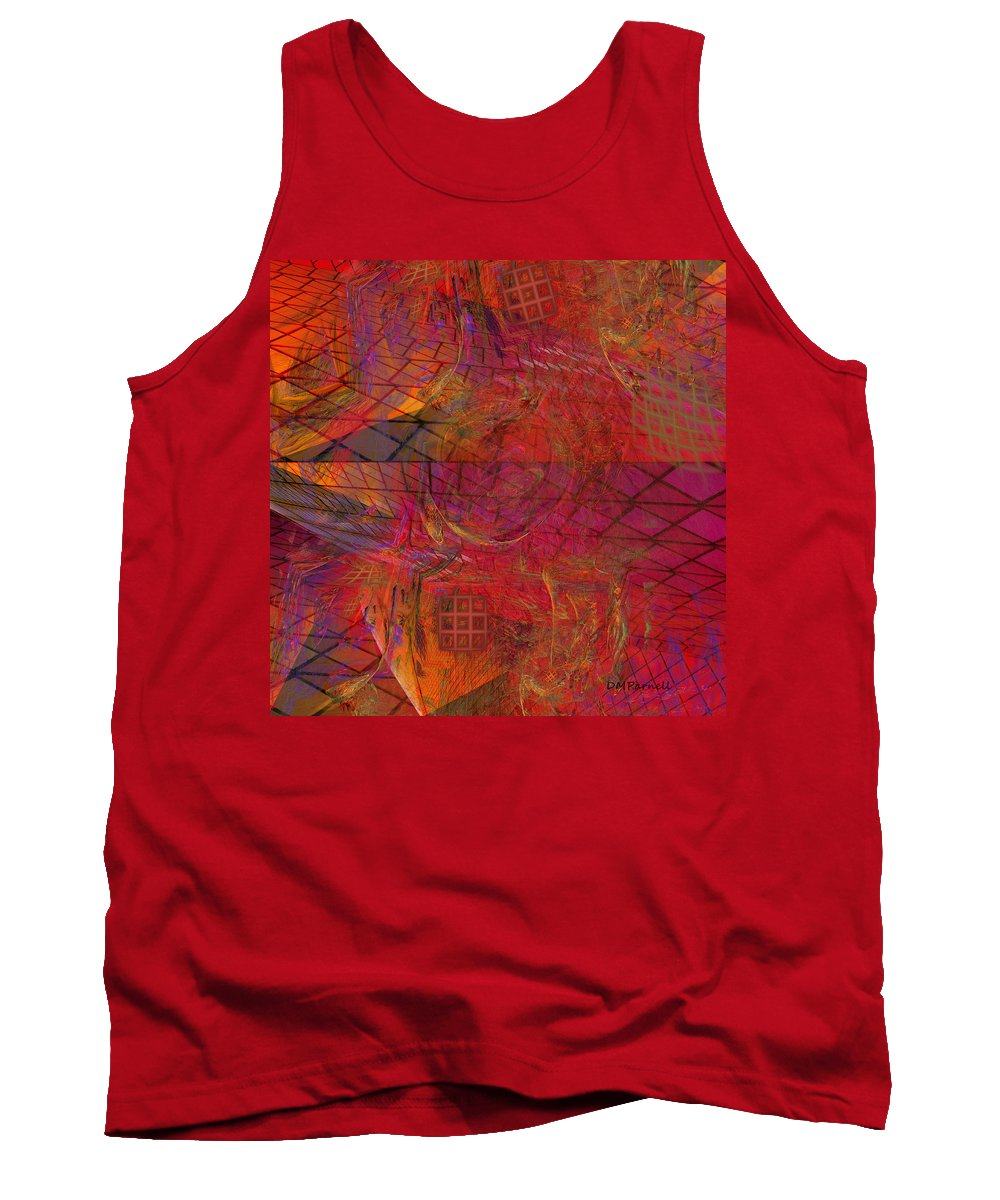 Abstract Tank Top featuring the digital art Geometric Daydreams by Diane Parnell