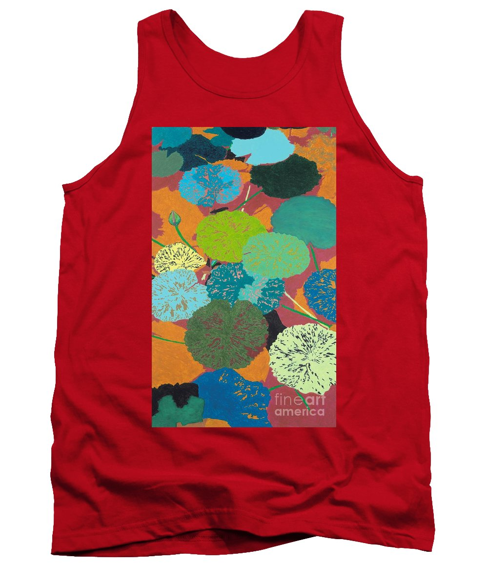 Landscape Tank Top featuring the painting Georgia Heat by Allan P Friedlander