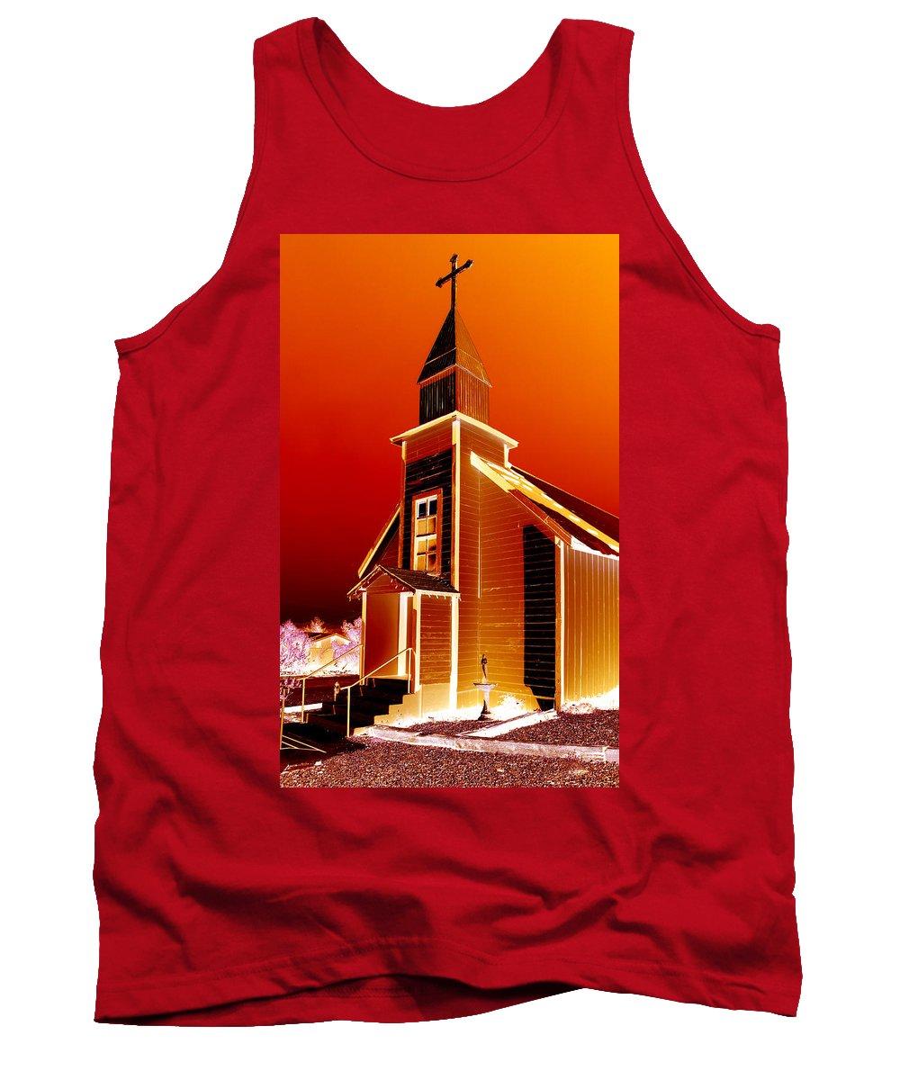 Church Tank Top featuring the photograph Ghost Town Church by Diana Hughes