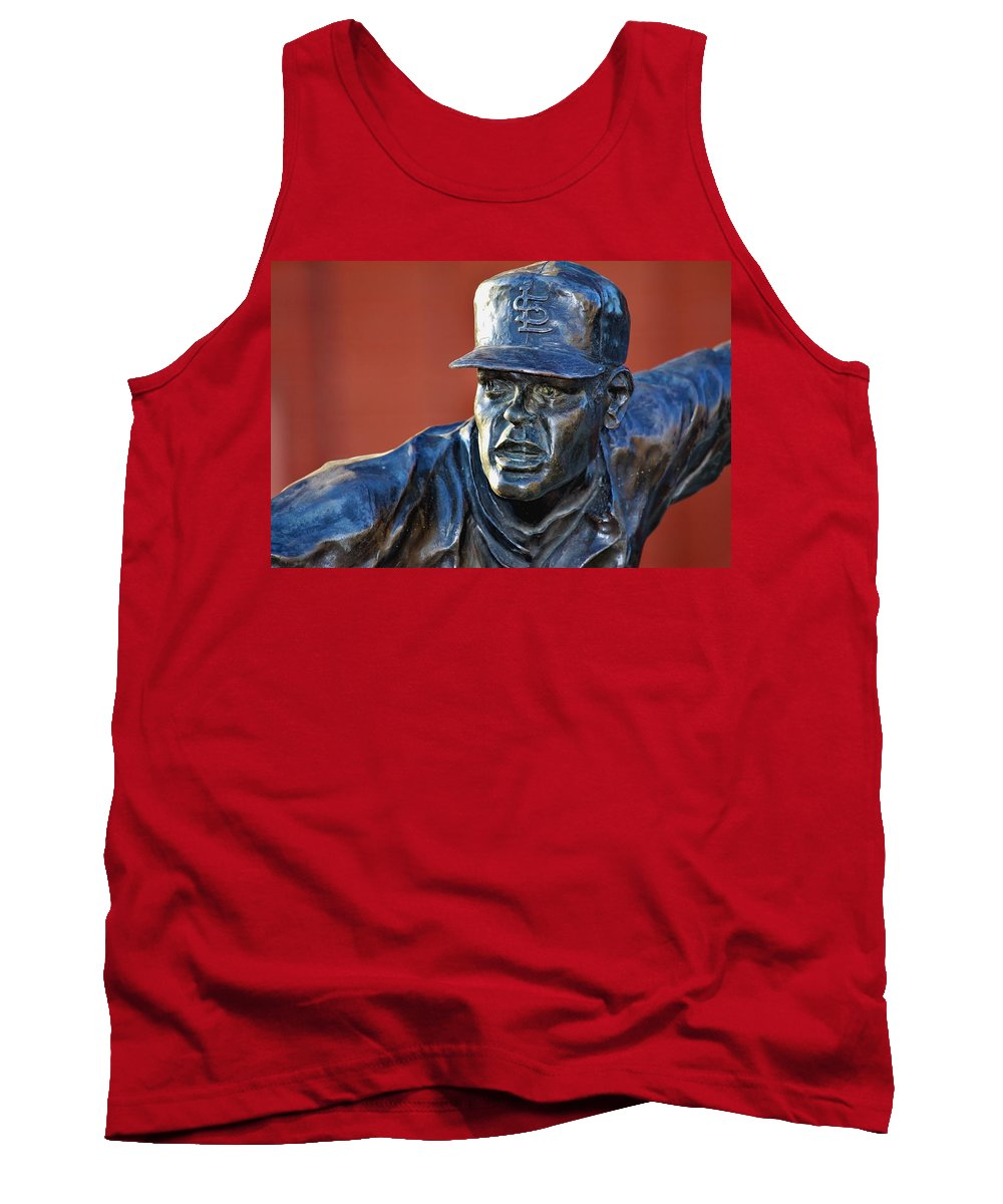 Bob Gibson Tank Top featuring the photograph Gibby by Christopher Miles Carter