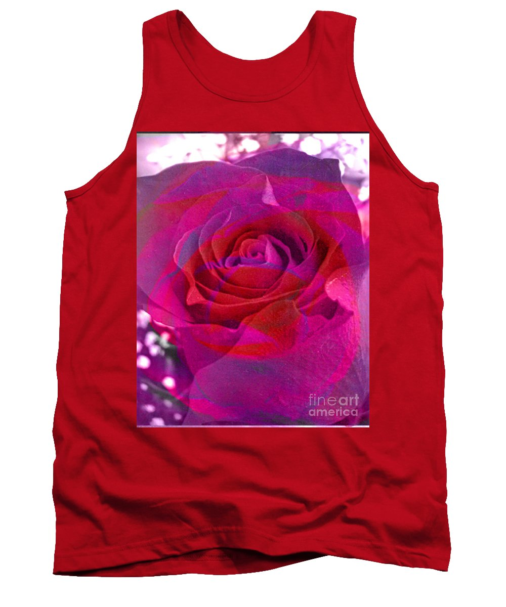 Digital Image Tank Top featuring the digital art Gift Of The Heart by Yael VanGruber