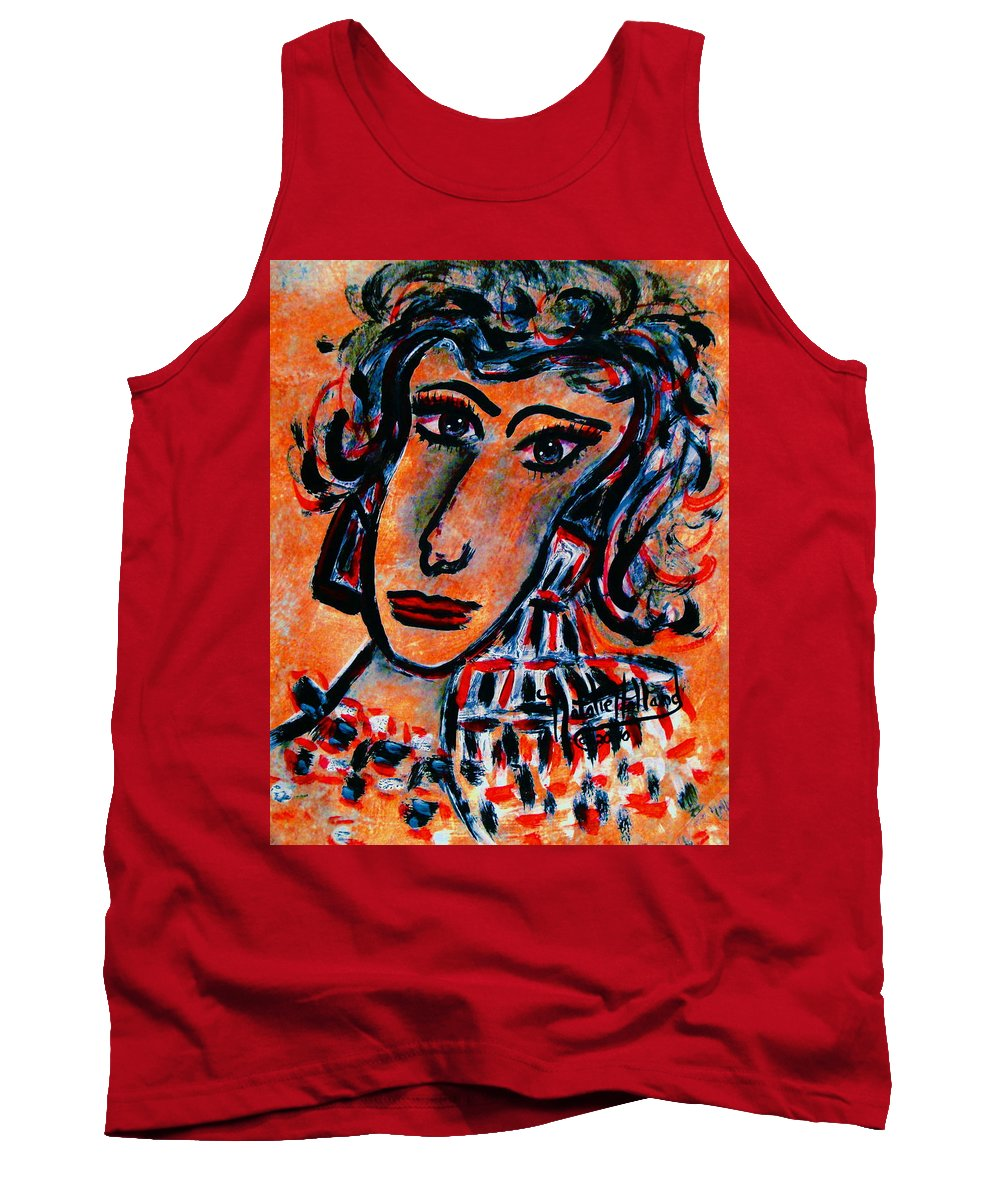 Glamour Tank Top featuring the painting Glamour by Natalie Holland