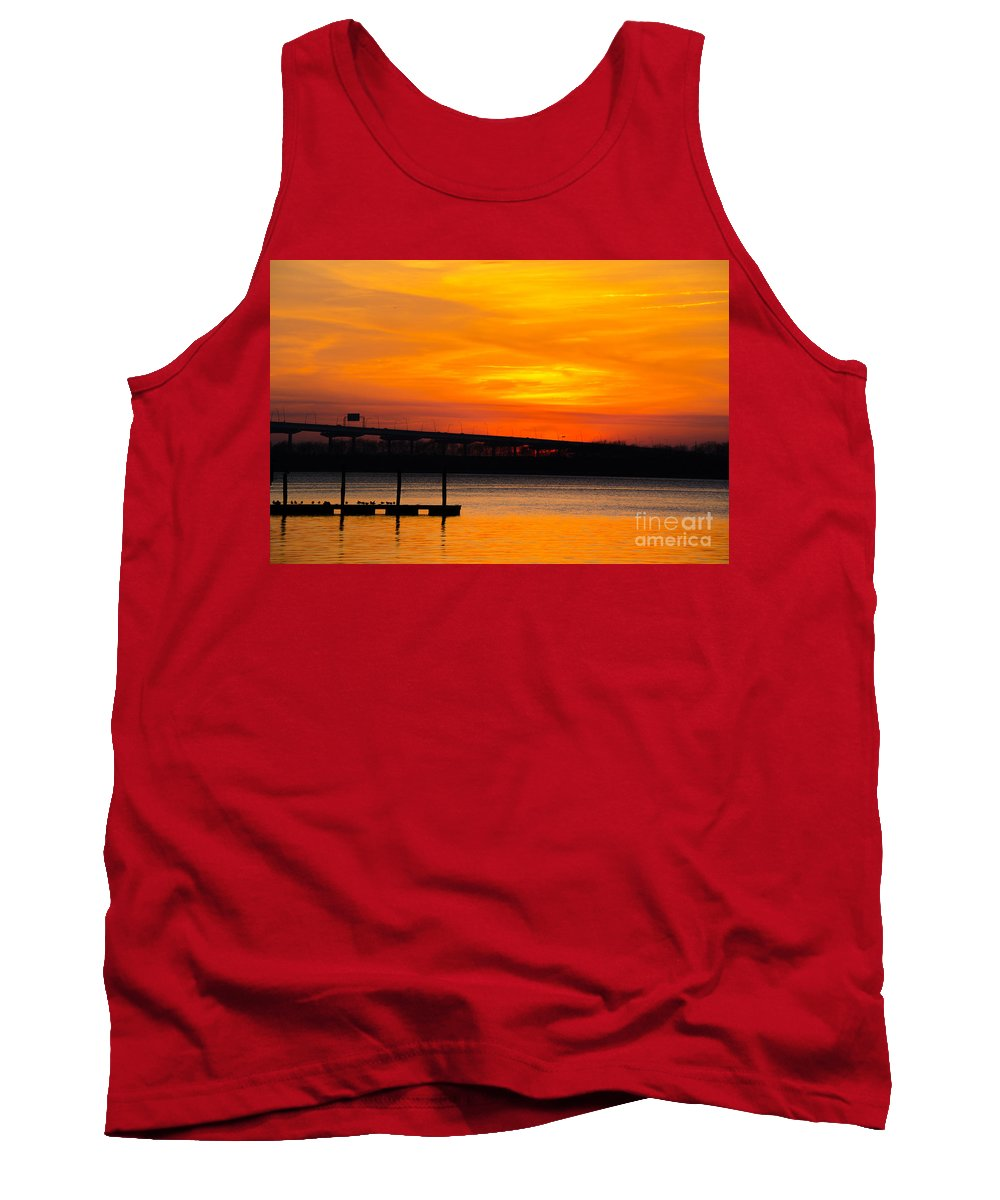 Sunset Tank Top featuring the photograph Glowing With Orange by Dale Powell