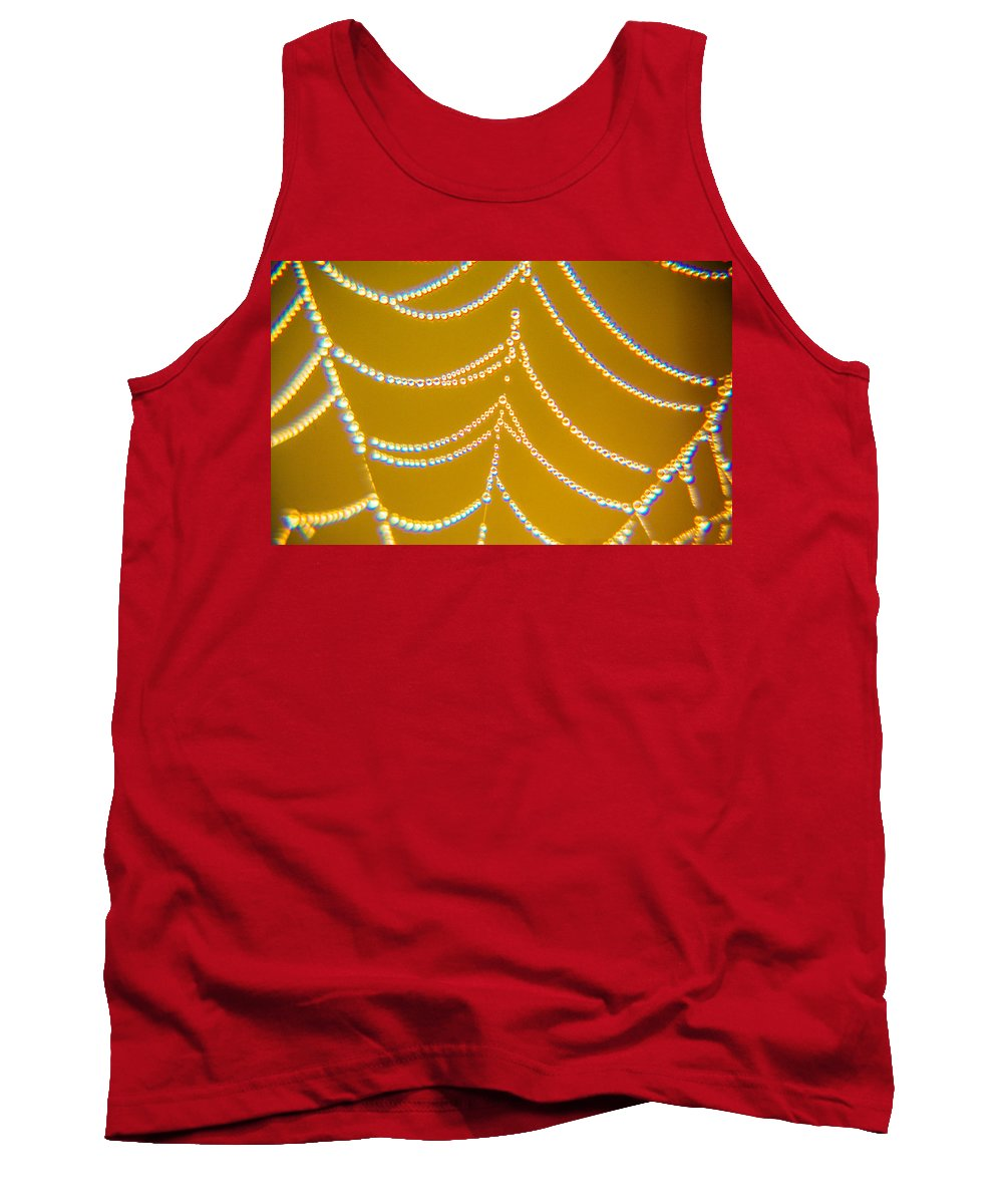 Gold Tank Top featuring the photograph Gold And Diamonds by Paula OMalley