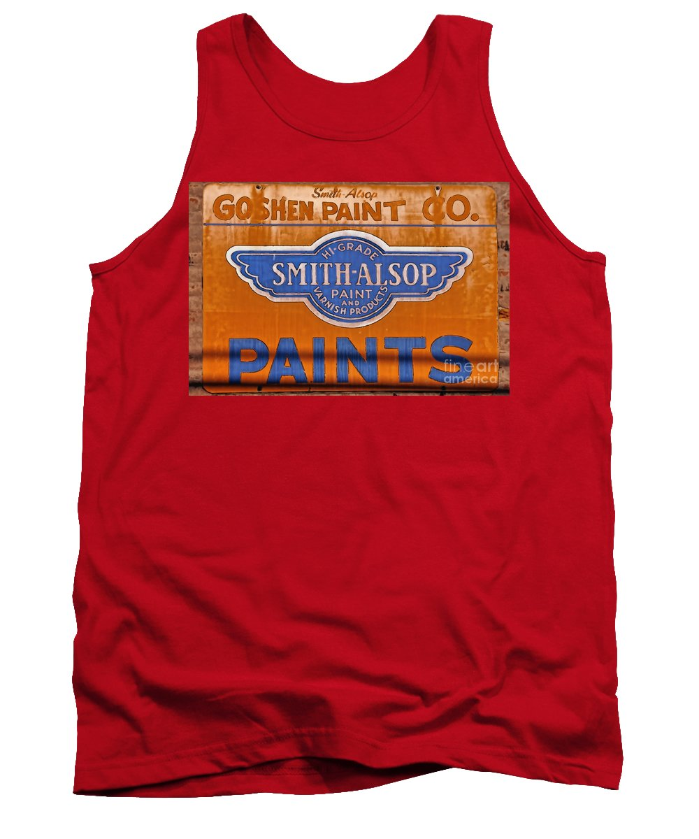 Goshen Tank Top featuring the photograph Goshen Paint Company by David Arment