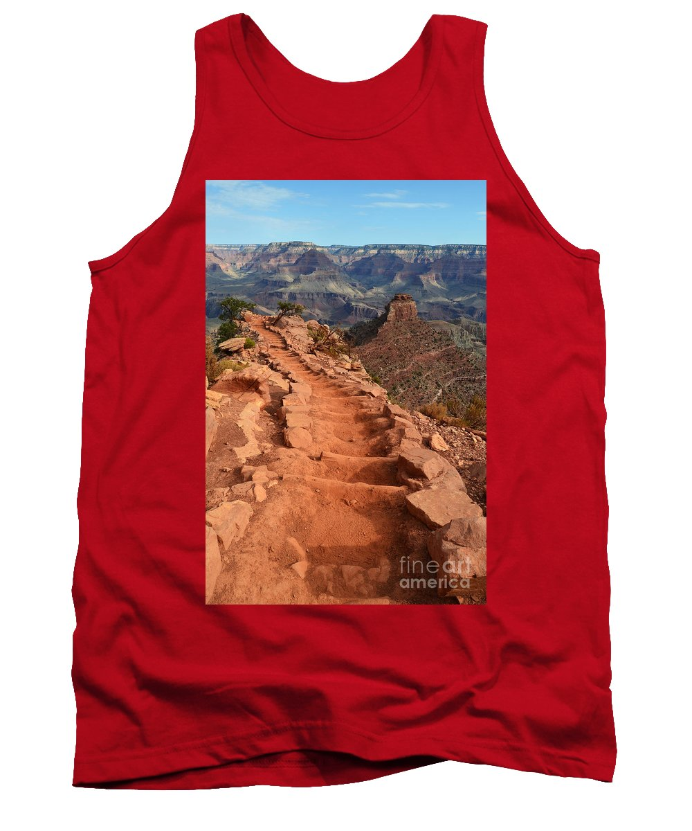 Travelpixpro Tank Top featuring the photograph Grand Canyon South Kaibab Trail And Oneill Butte Vertical by Shawn O'Brien