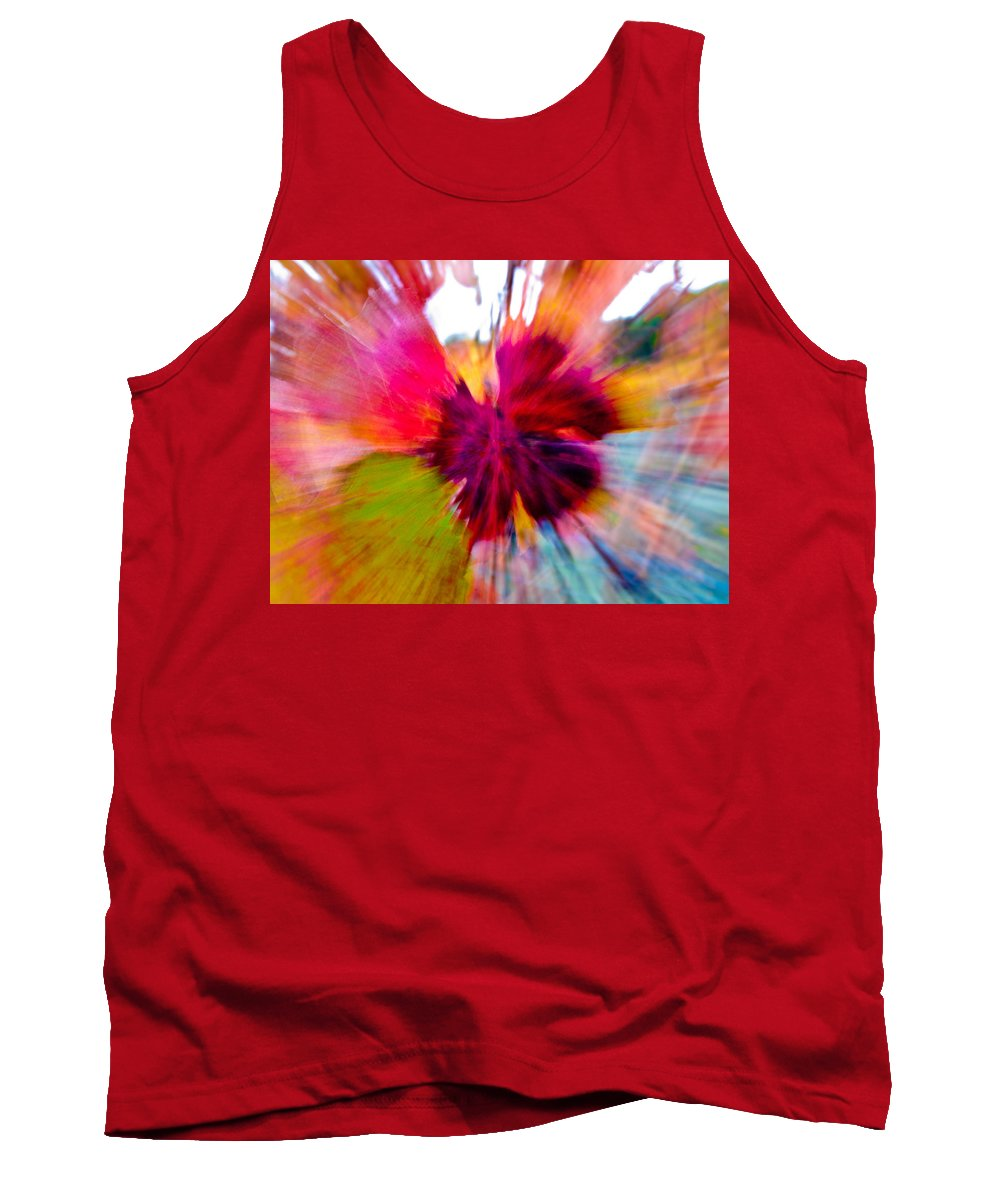 Grapevine Tank Top featuring the photograph Grape Vine Burst by Bill Gallagher