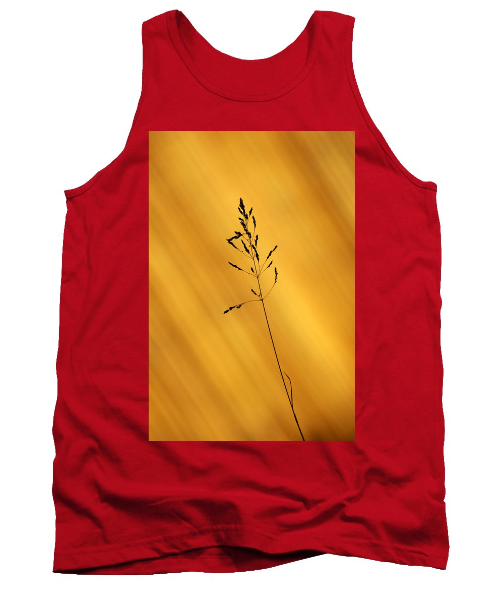 Grass Tank Top featuring the photograph Grass Silhouette by Chris Day