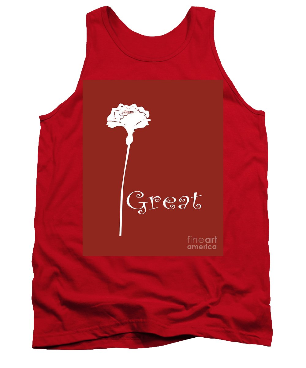 Great Tank Top featuring the digital art Great by Voros Edit