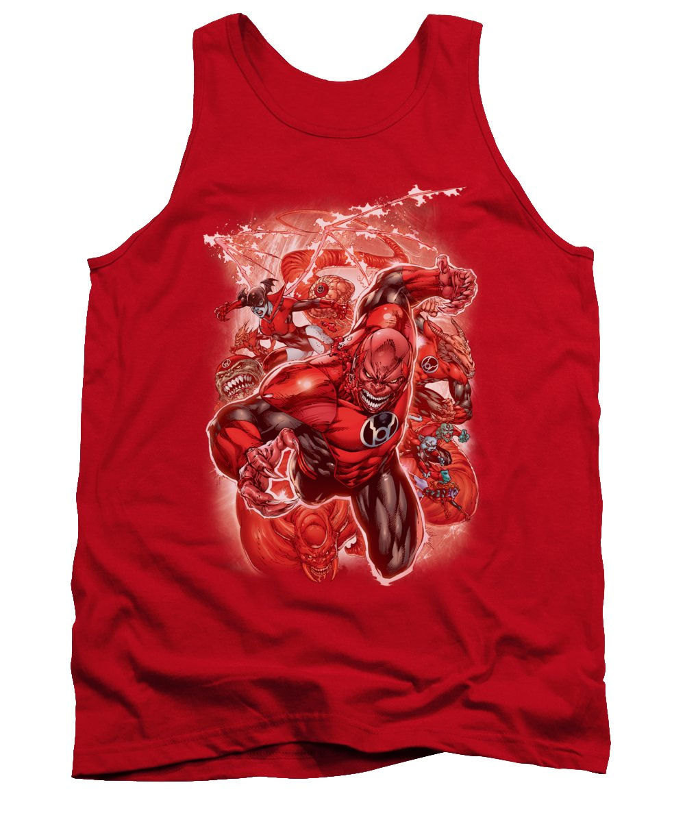 Green Lantern Tank Top featuring the digital art Green Lantern - Red Lanterns #1 by Brand A