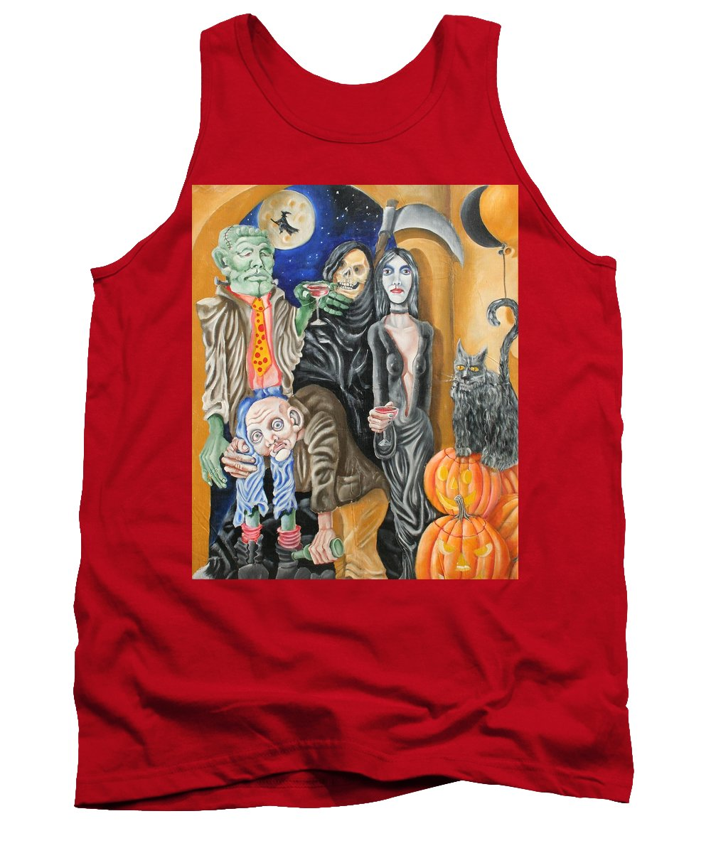 Halloween Tank Top featuring the painting Halloween by Don Martinelli