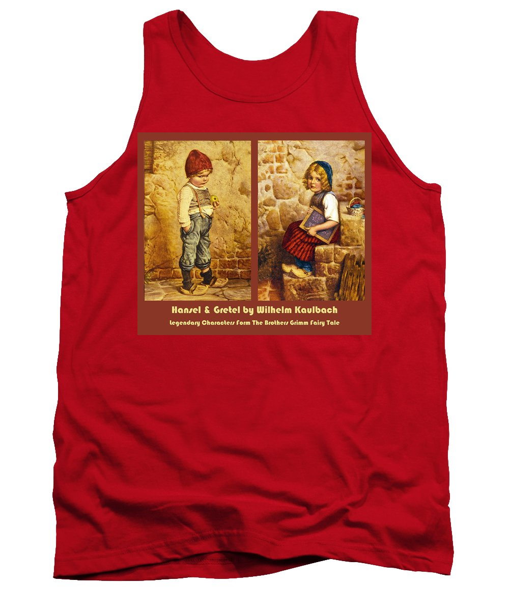 Hansel And Gretel Brothers Grimm Tank Top featuring the digital art Hansel And Gretel Brothers Grimm by Wilhelm Kaulbach