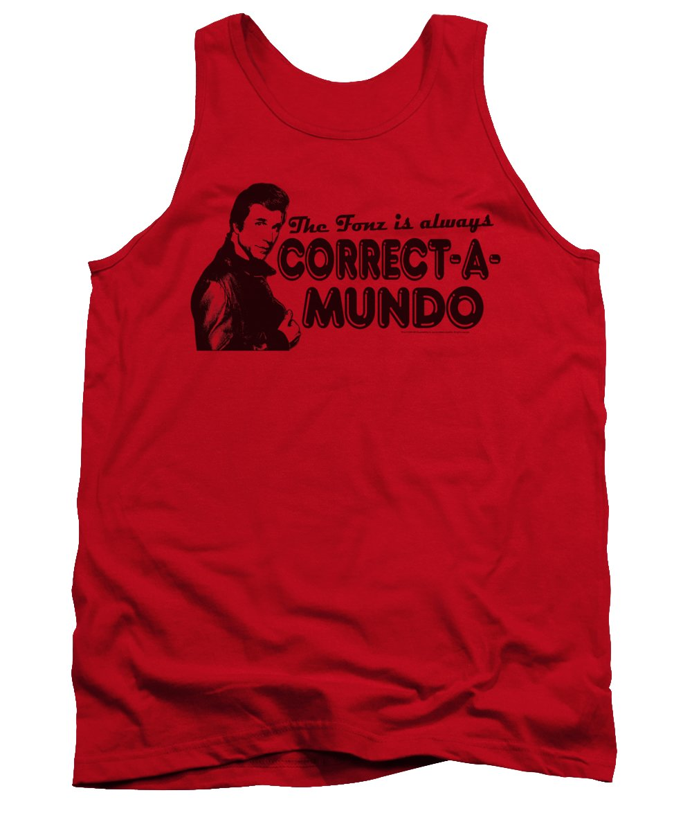 Happy Days Tank Top featuring the digital art Happy Days - Correct A Mundo by Brand A