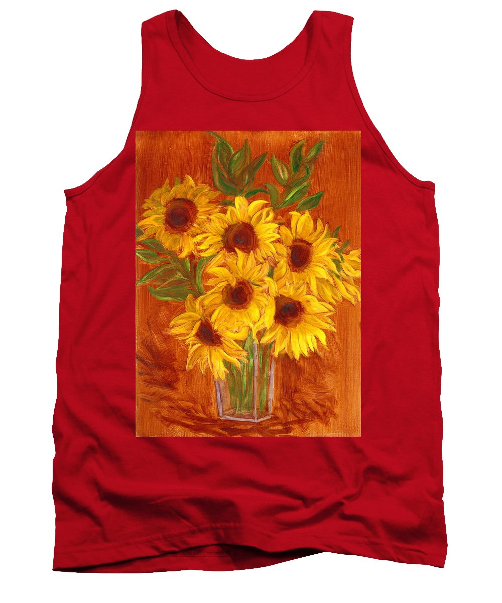 Still Life Tank Top featuring the painting Happy Mother's Day by Paula Emery