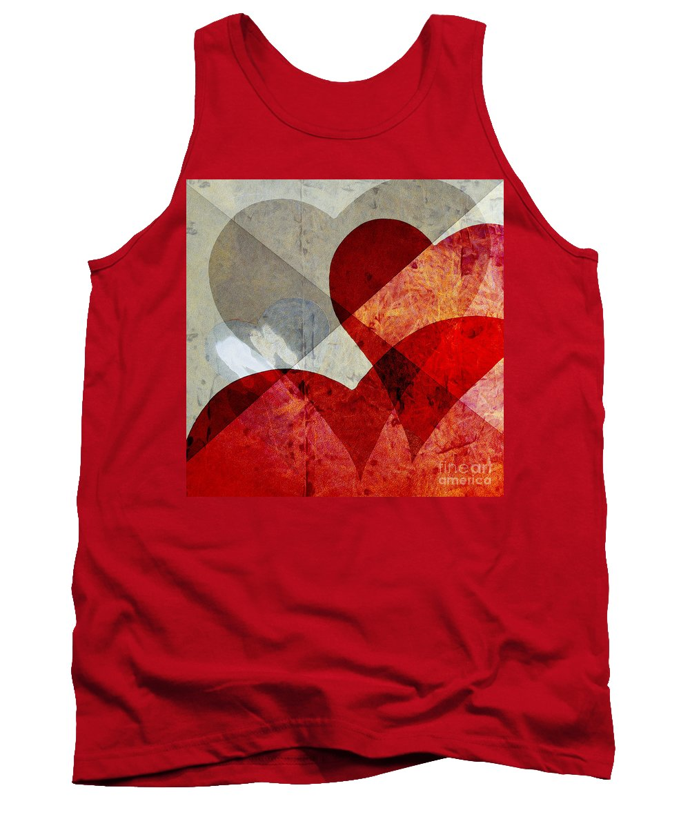 Abstract Tank Top featuring the photograph Hearts 8 Square by Edward Fielding