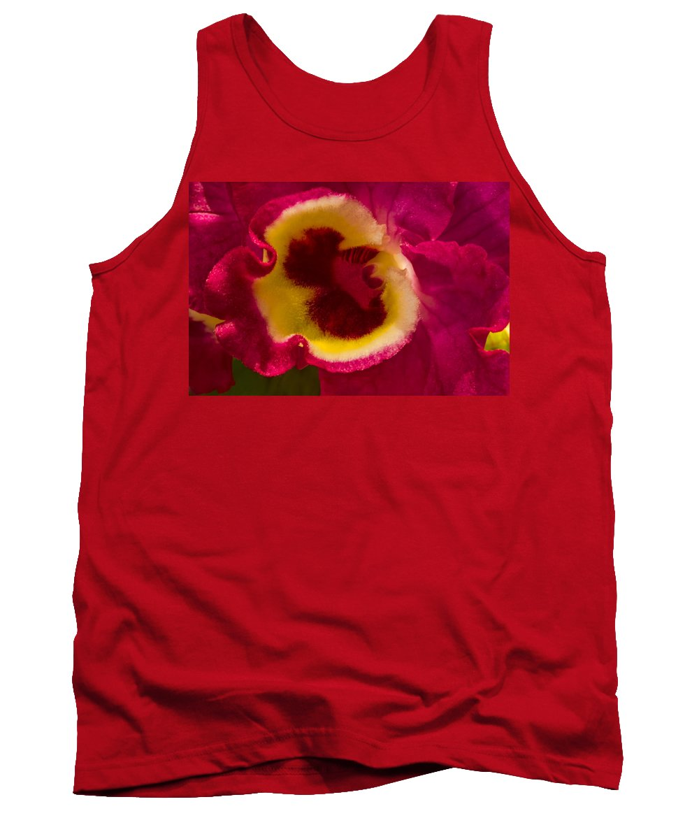 Orchid Tank Top featuring the photograph Heart Of An Orchid by Lindley Johnson