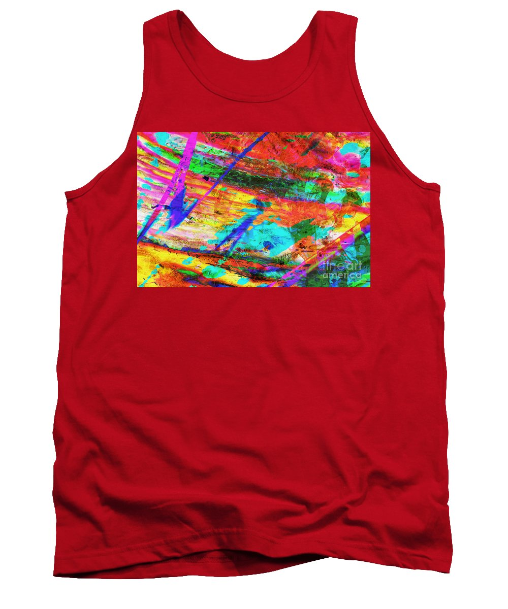 Iran Tank Top featuring the digital art Hormod Protected Area by Phill Petrovic