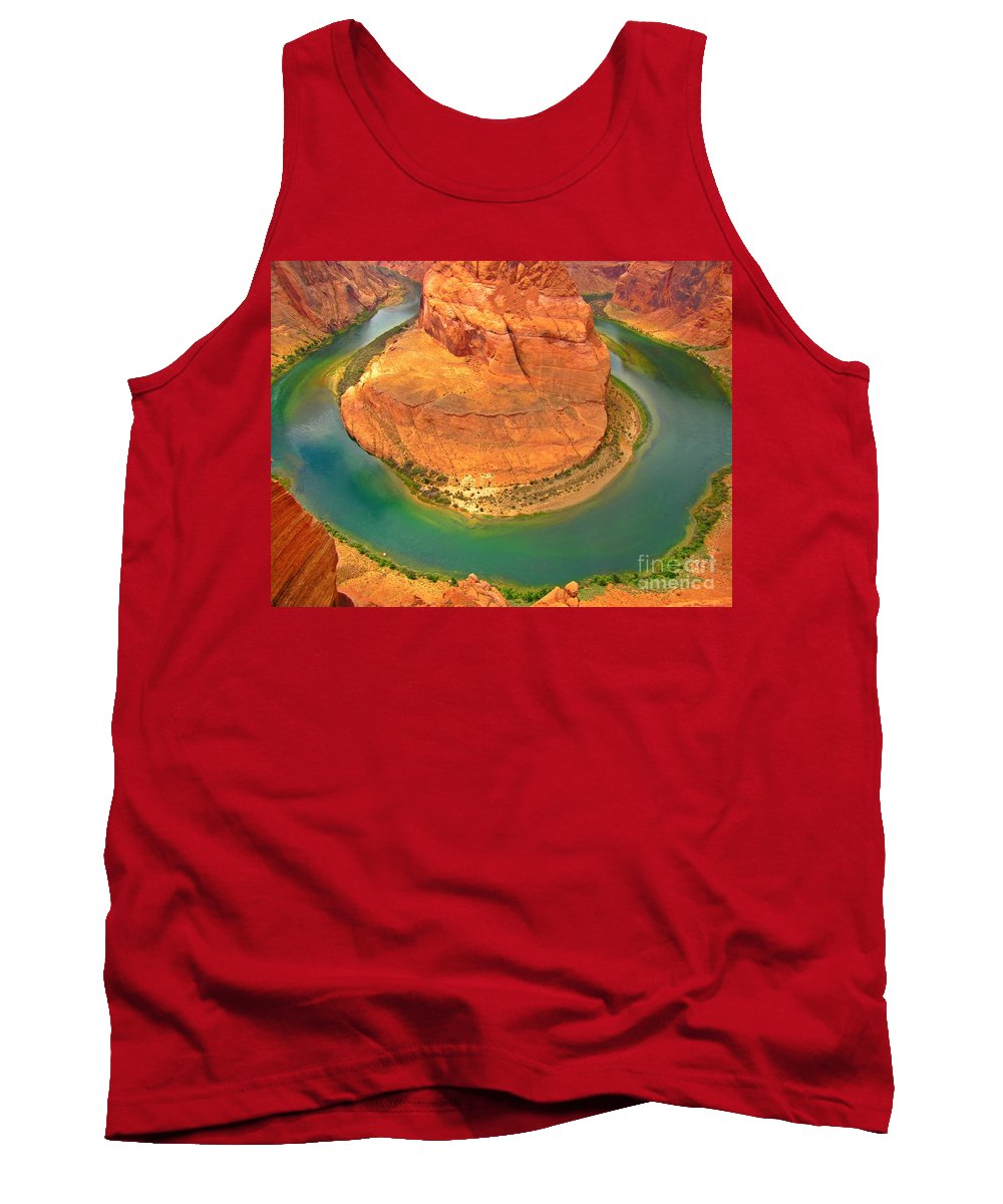 Landscapes Tank Top featuring the photograph Horseshoe Bend Two by John Malone