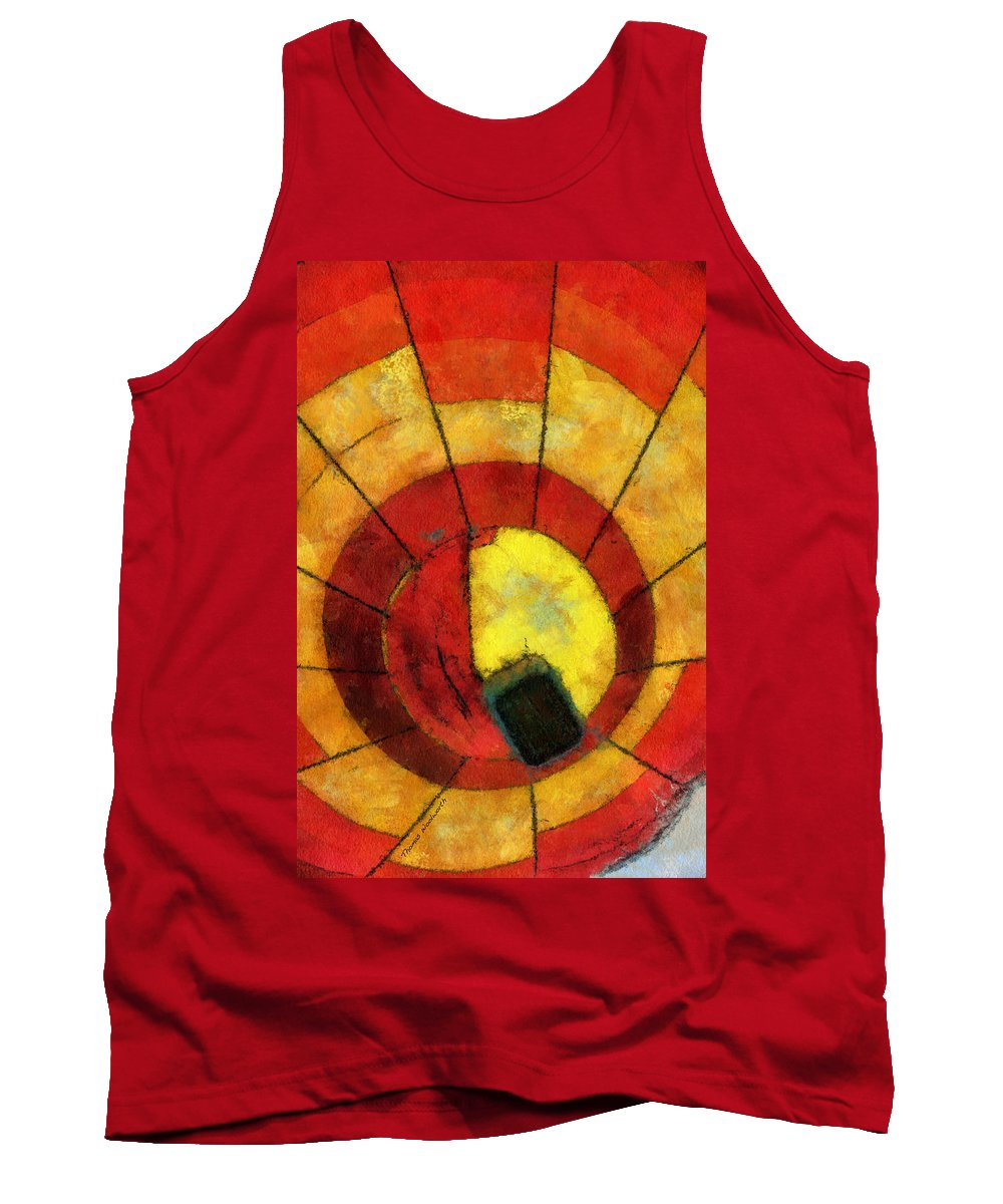 Adventure Tank Top featuring the photograph Hot Air Balloon Bottoms Up Photo Art by Thomas Woolworth