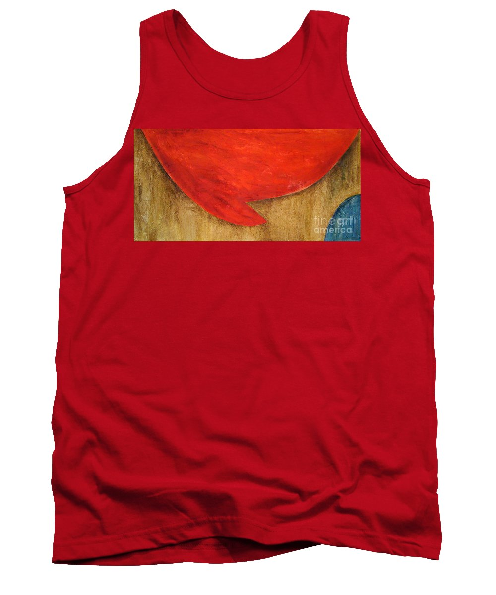 Abstract Tank Top featuring the painting Hot Spot by Silvana Abel
