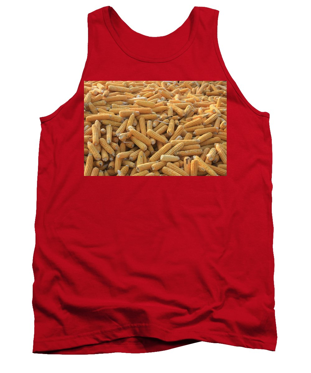 Sweet Corn Tank Top featuring the photograph Husked Sweetcorn by Taiche Acrylic Art