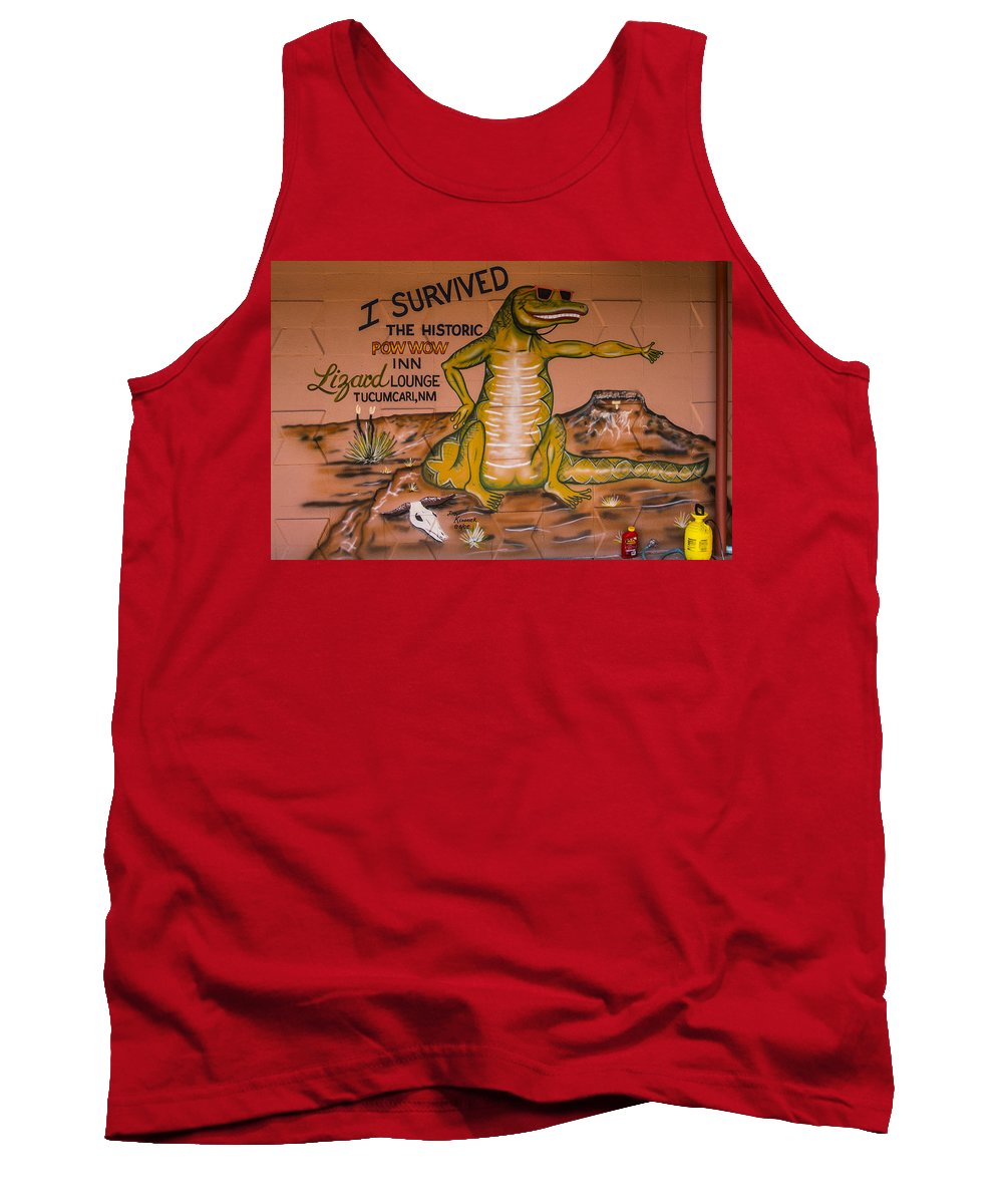 Route 66 Tank Top featuring the photograph I Survived The Historic Pow Wow by Angus Hooper Iii
