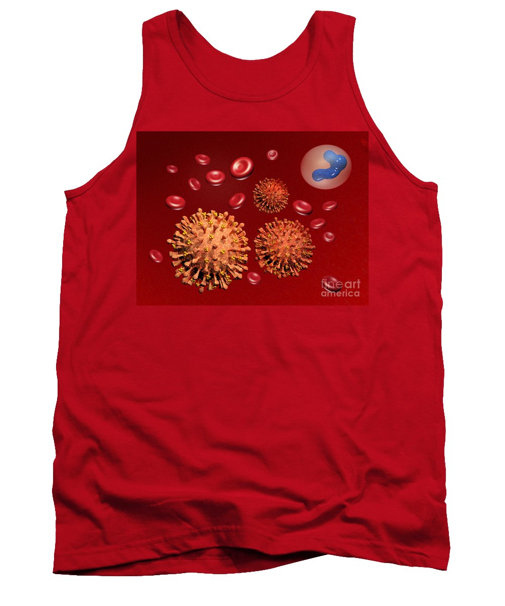 Disease Tank Top featuring the photograph Illustration Of Influenza by Scott Camazine