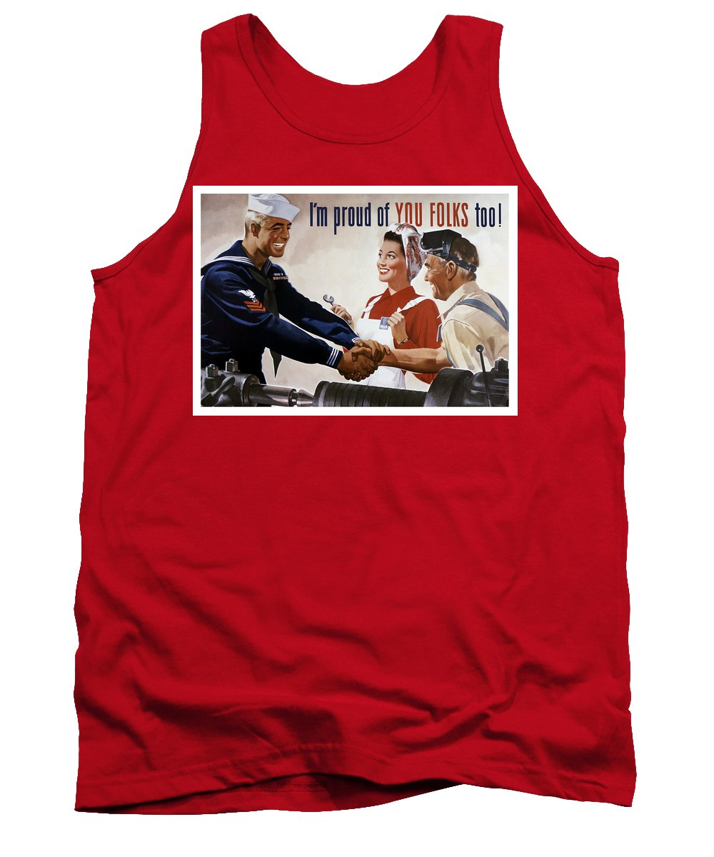 Sailor Tank Top featuring the painting I'm Proud Of You Folks Too - Ww2 by War Is Hell Store