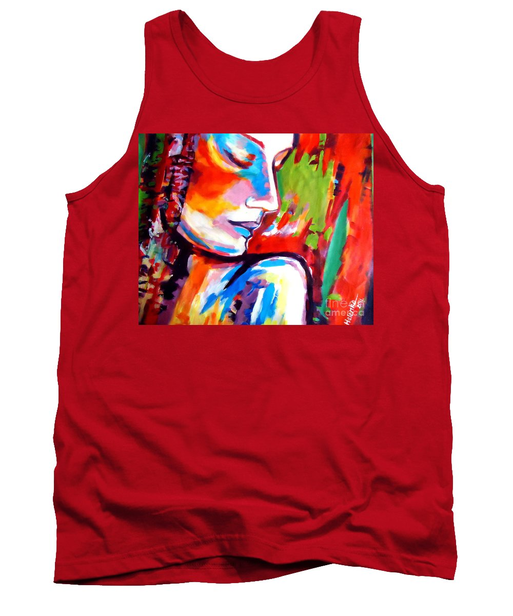 Art Tank Top featuring the painting Insight by Helena Wierzbicki