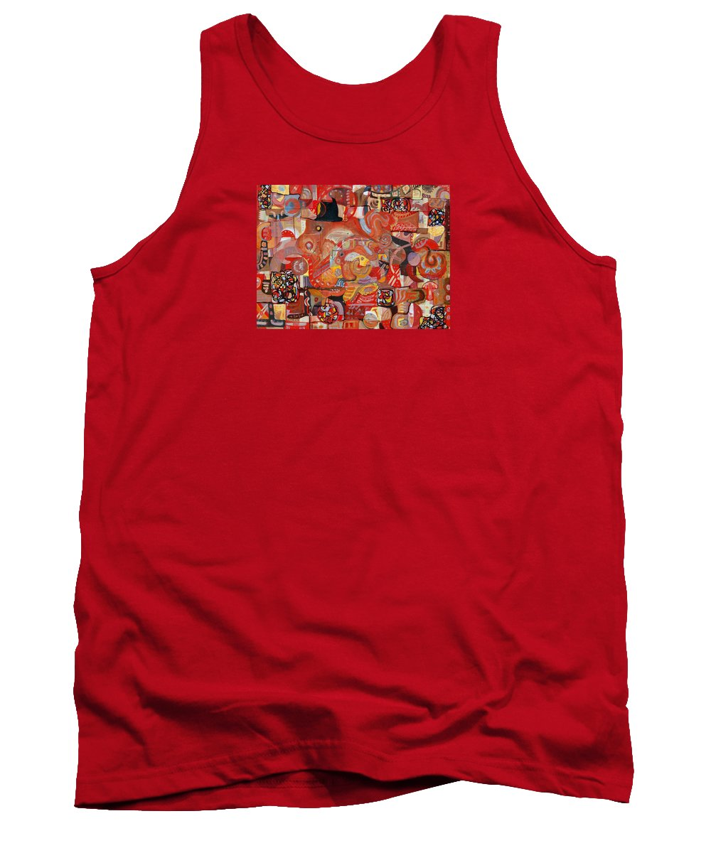 Symbolism Tank Top featuring the painting Intricacies by Ishwar Malleret
