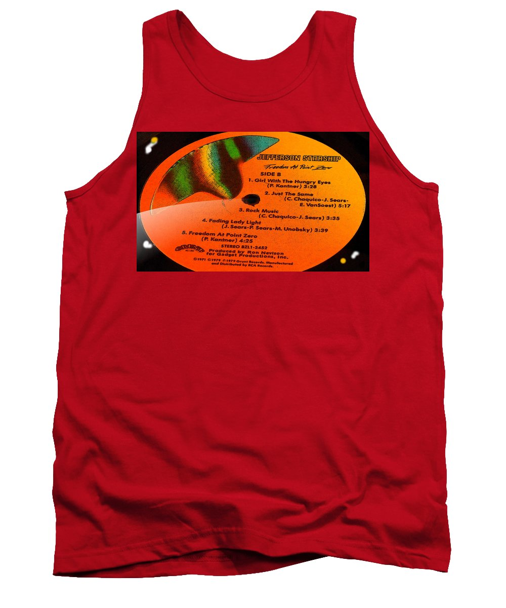 Jefferson Starship Tank Top featuring the photograph Jefferson Starship Side B by Marcello Cicchini